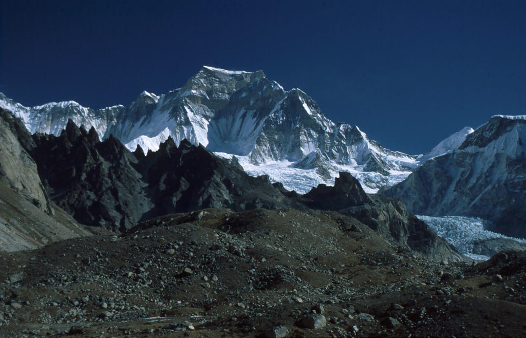 Gyachung Kang 9th highest mountain in Nepal