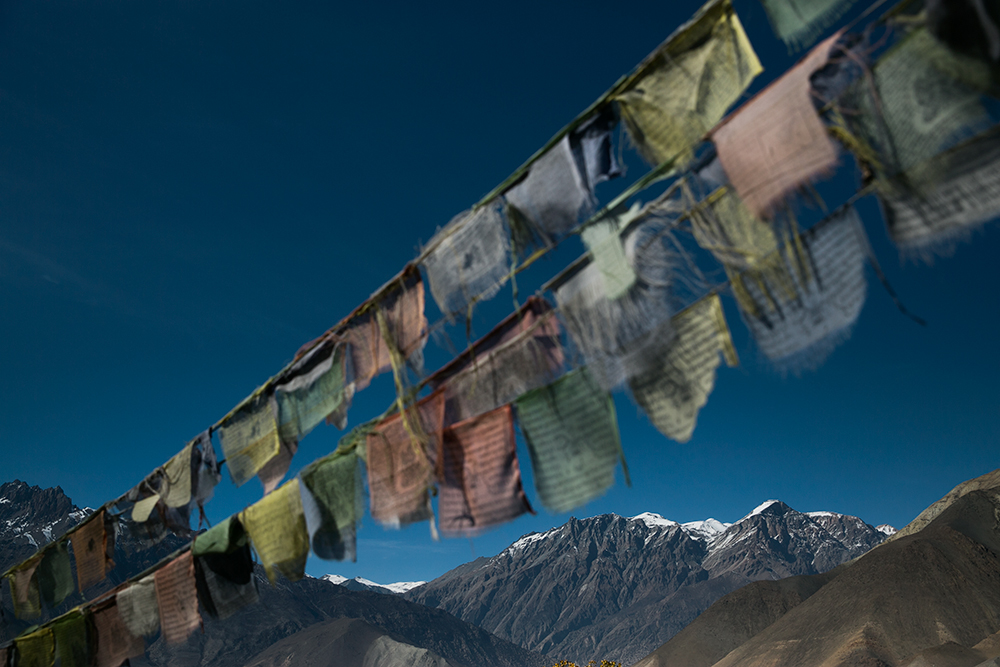 prayer flag Annapurna Circuit