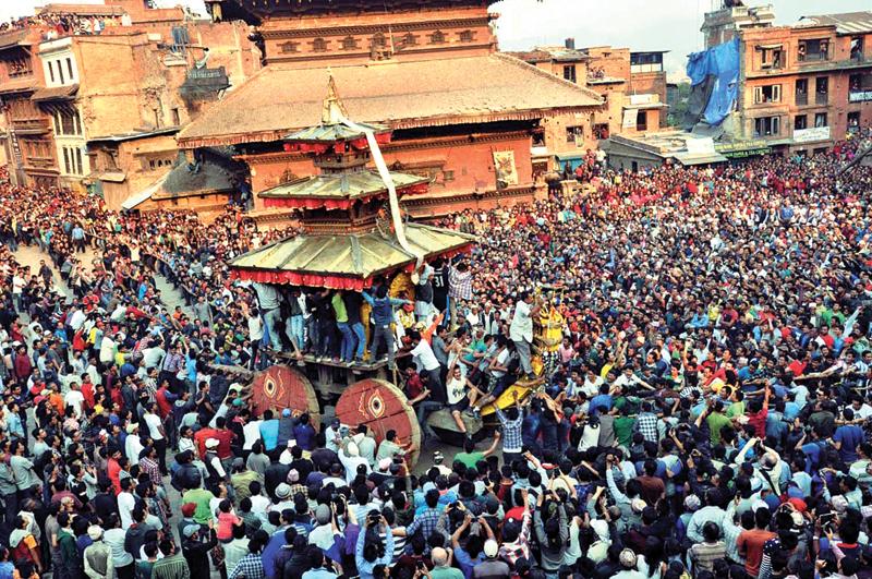 bisket jatra festival bhaktapur