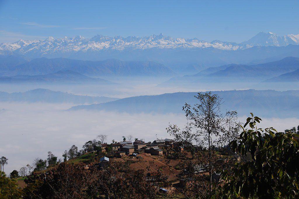 langtang range panauti namo buddha hike