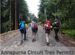 Annapunra Circuit trek permits
